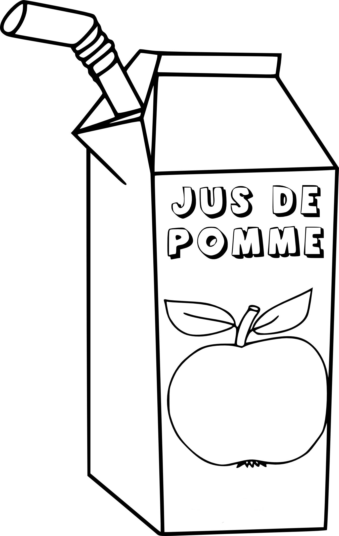 Coloriage jus de pomme