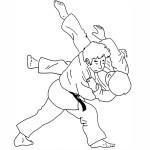 Coloriage Kimono Judo