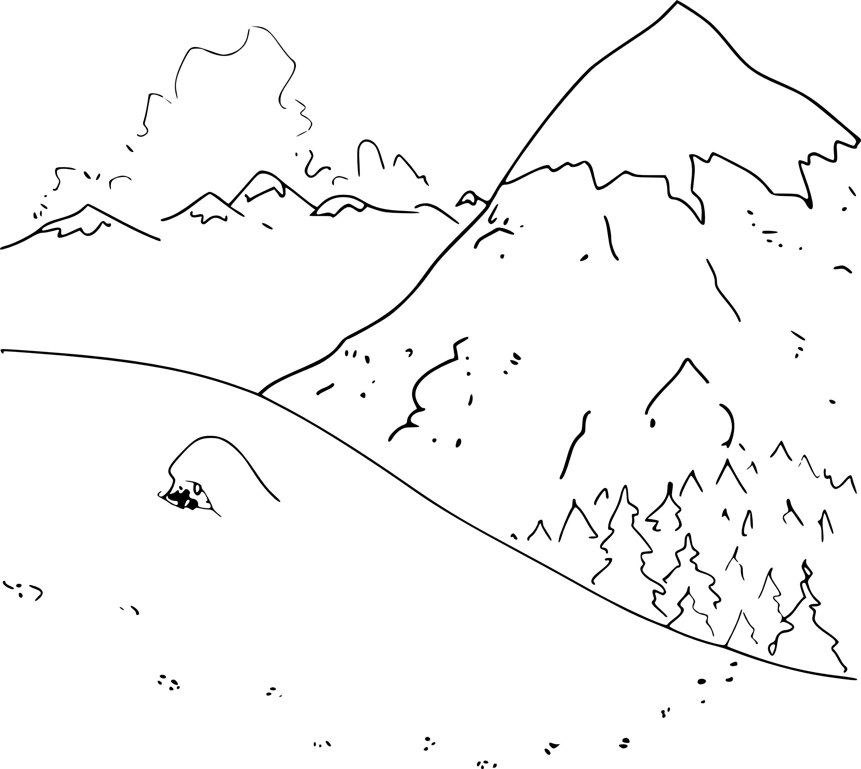 coloriage la montagne imprimer. Black Bedroom Furniture Sets. Home Design Ideas