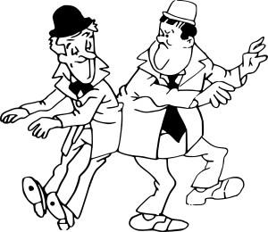 Coloriage Laurel et Hardy