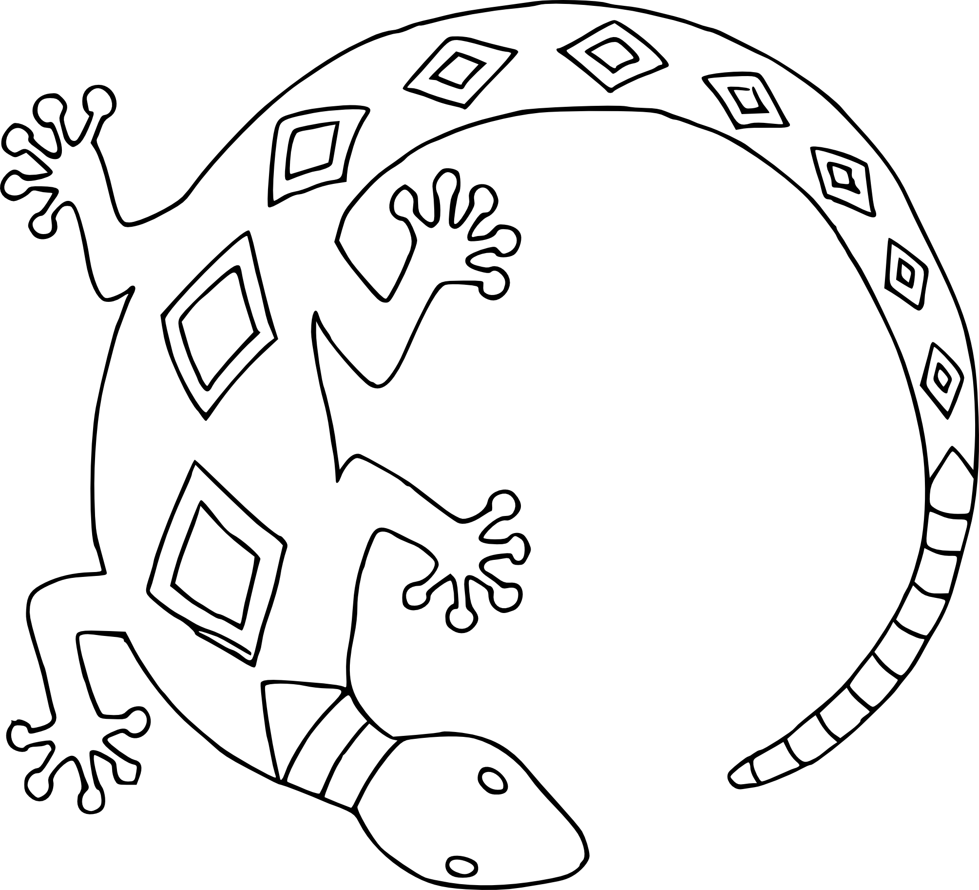 Coloriage lezard
