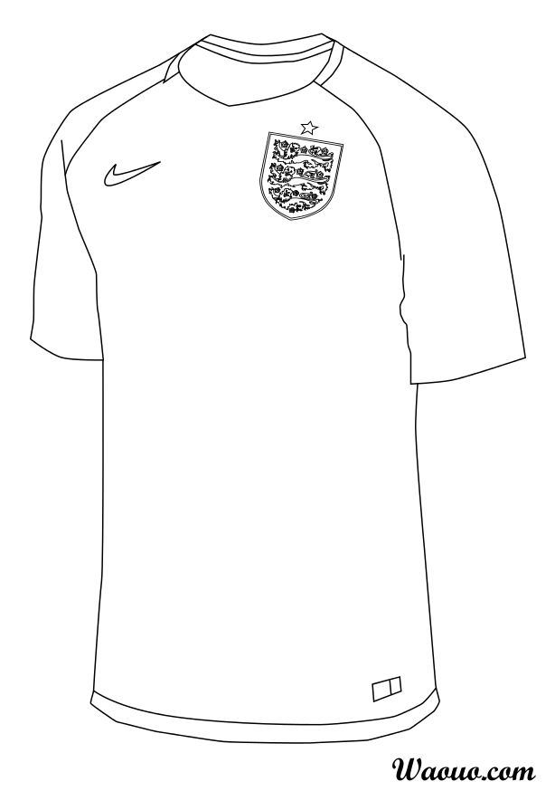 Coloriage maillot Angleterre
