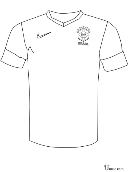 Coloriage maillot du Bresil