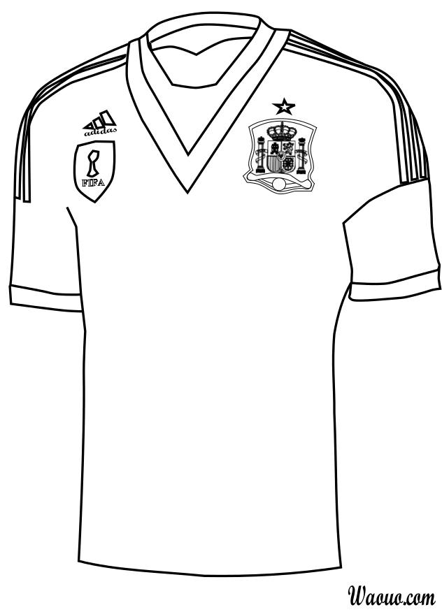 Coloriage maillot Espagne
