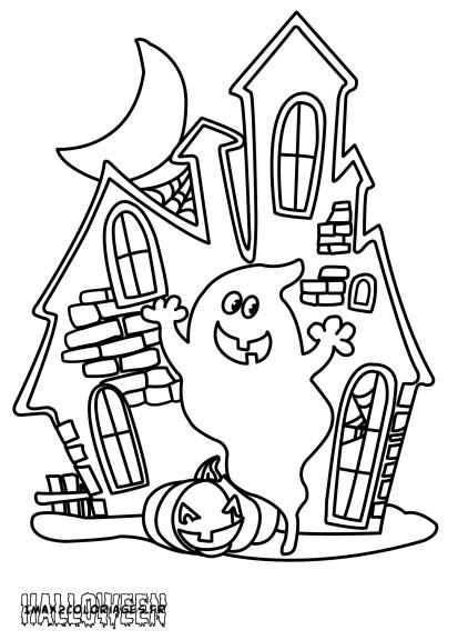 Coloriage maison hant e imprimer - Dessin de maison hantee ...