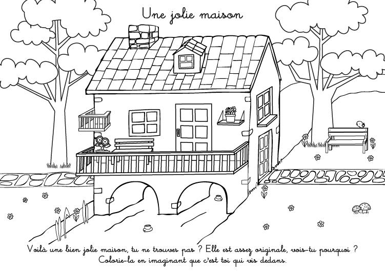 Coloriage maison jardin imprimer for Image de jardin a imprimer