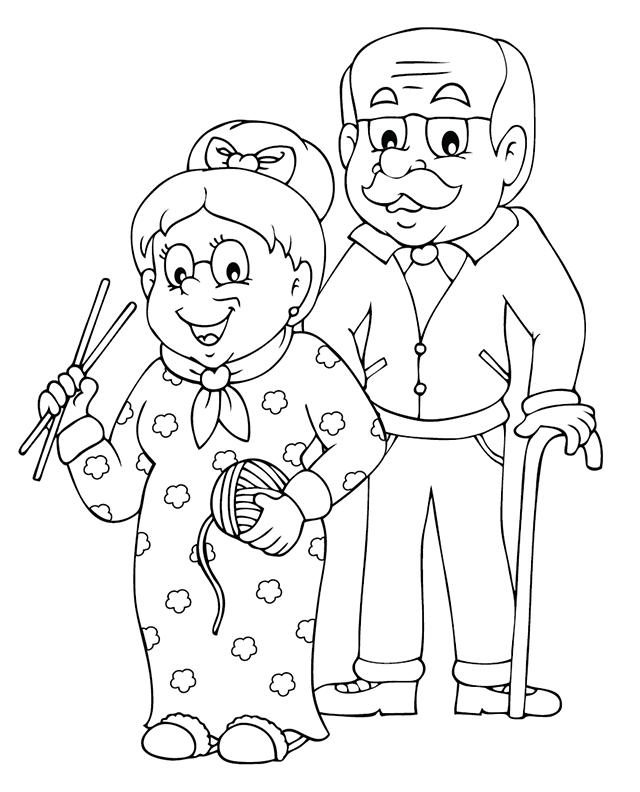Coloriage Mamie Et Papi à Imprimer