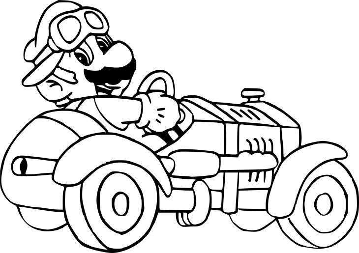 Coloriage Mario Kart 7 à imprimer