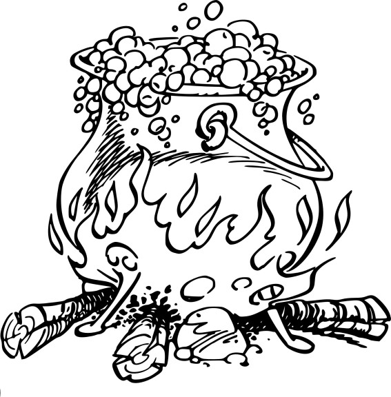 coloriage marmite feu de bois imprimer. Black Bedroom Furniture Sets. Home Design Ideas