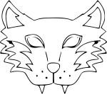 Coloriage masque loup-garou