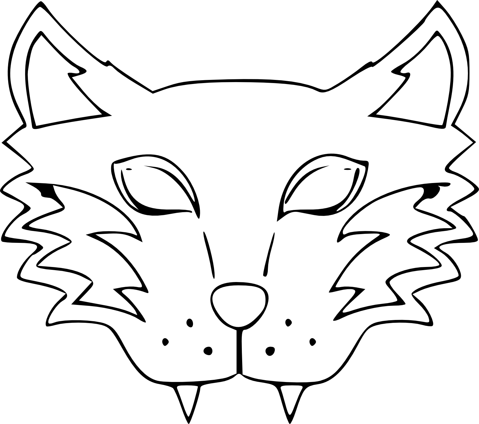 Unique dessin a colorier de loup garou - Coloriage masque ...