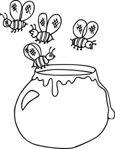 Coloriage miel