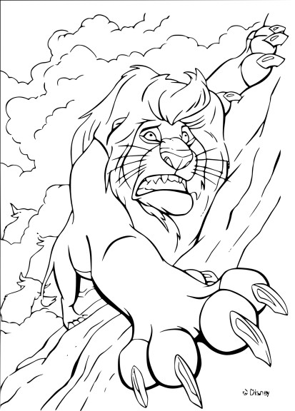 Coloriage Mufasa Disney