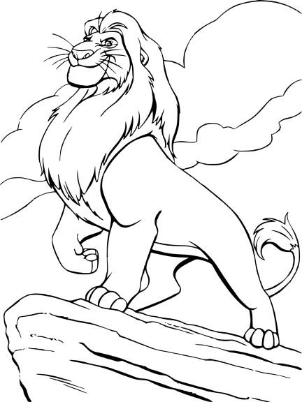 Coloriage Mufasa Roi Lion