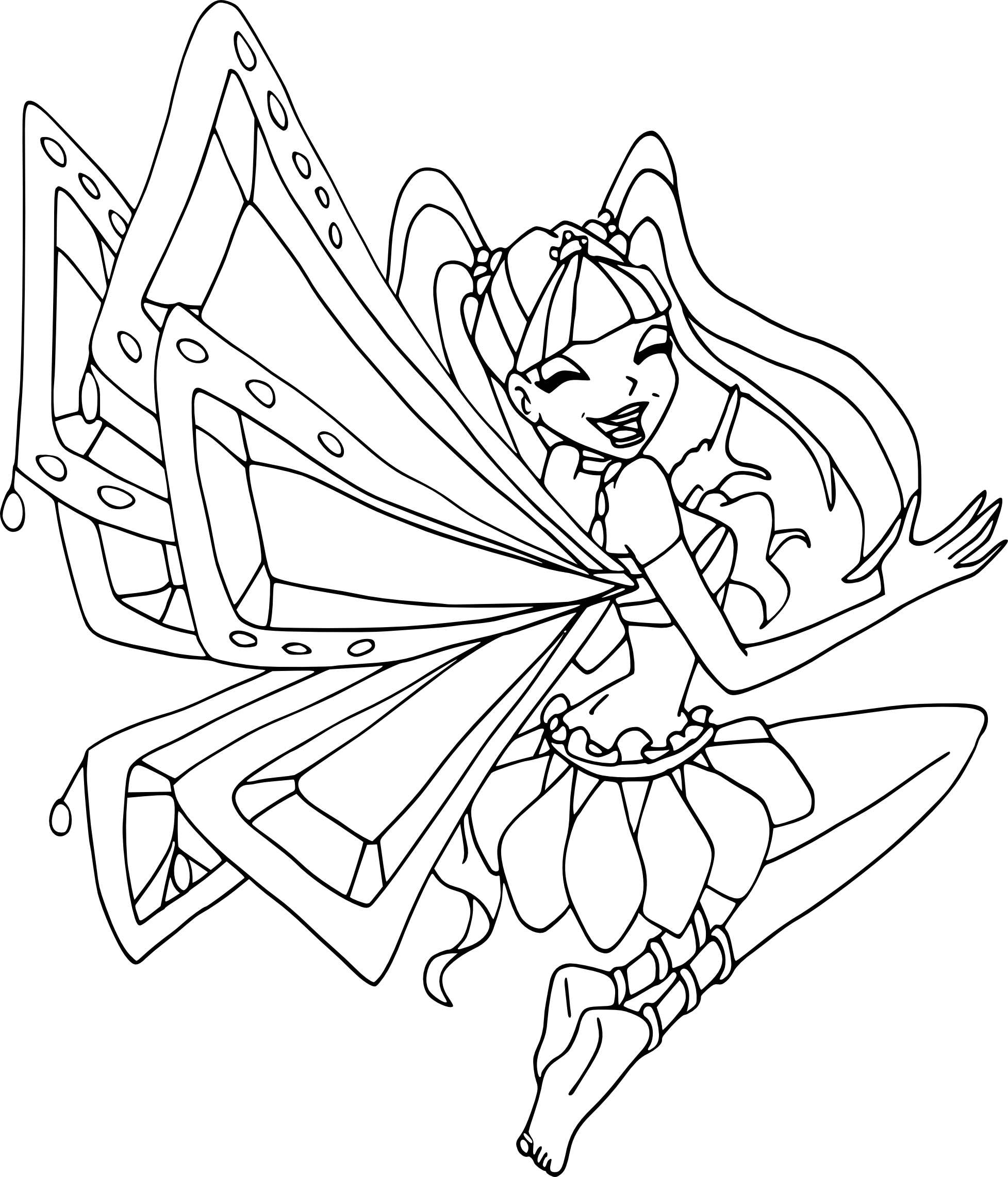 Coloriage musa enchantix imprimer - Coloriage winx bloom ...