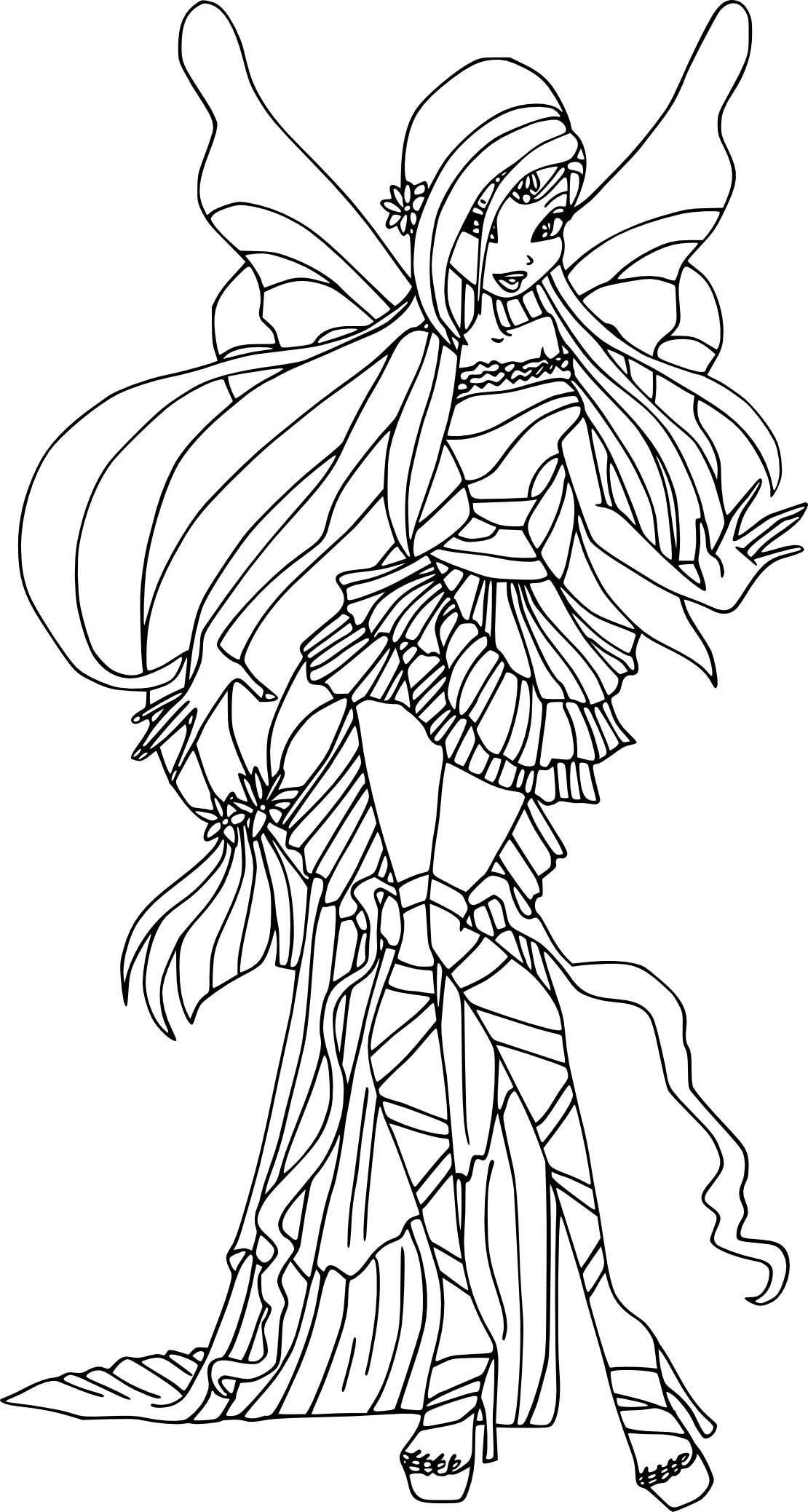 Coloriage Musa Harmonix