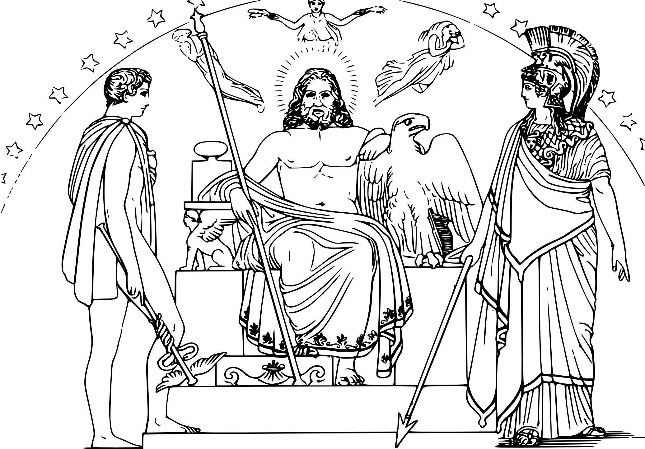 Coloriage Mythologie Grecque A Imprimer