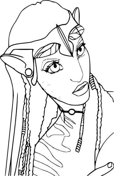 Coloriage Neytiri Avatar