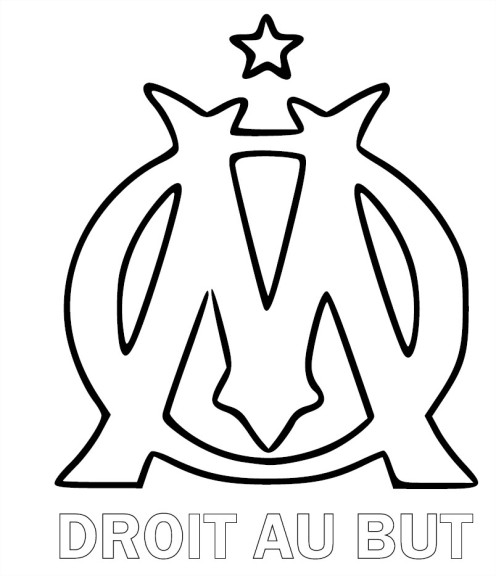 Coloriage olympique de marseille imprimer - Dessin equipe de foot ...