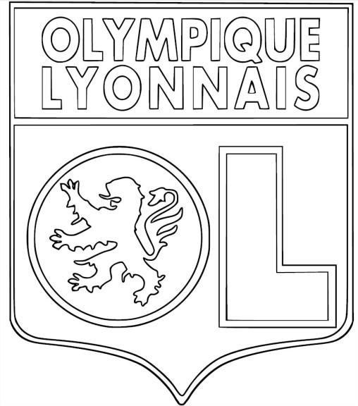 Coloriage cusson olympique lyonnais imprimer - Coloriage ecusson ...