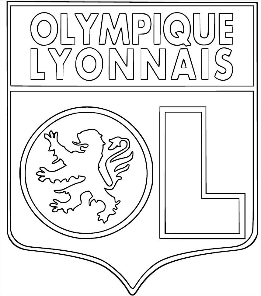 coloriage cusson olympique lyonnais imprimer. Black Bedroom Furniture Sets. Home Design Ideas