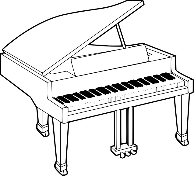 Coloriage piano imprimer - Coloriage piano ...