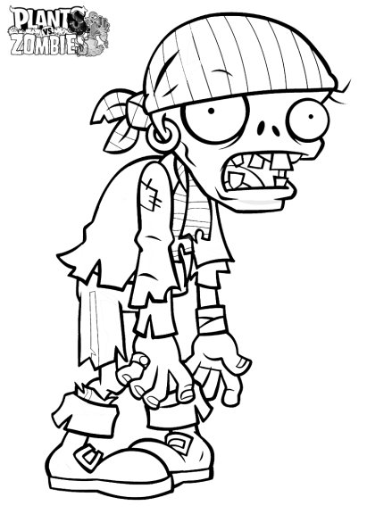 Coloriage plants vs zombies imprimer - Dessin de zombie ...