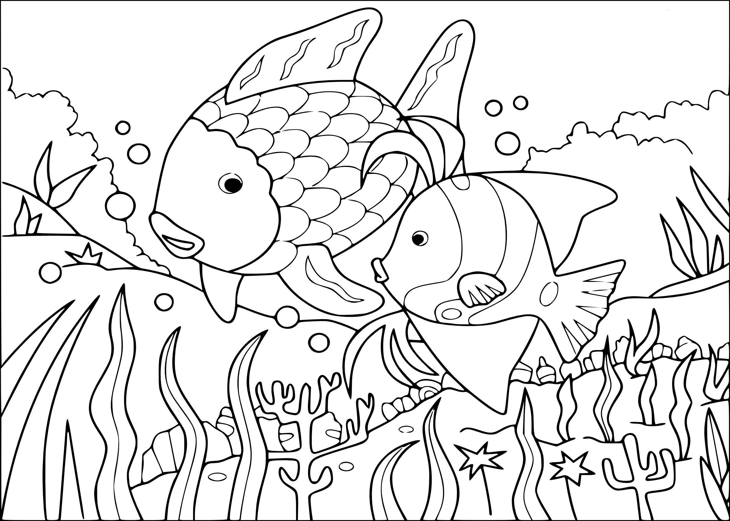 Coloriage poissons tropicaux