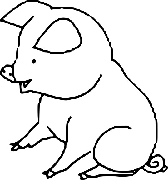 Coloriage porcelet