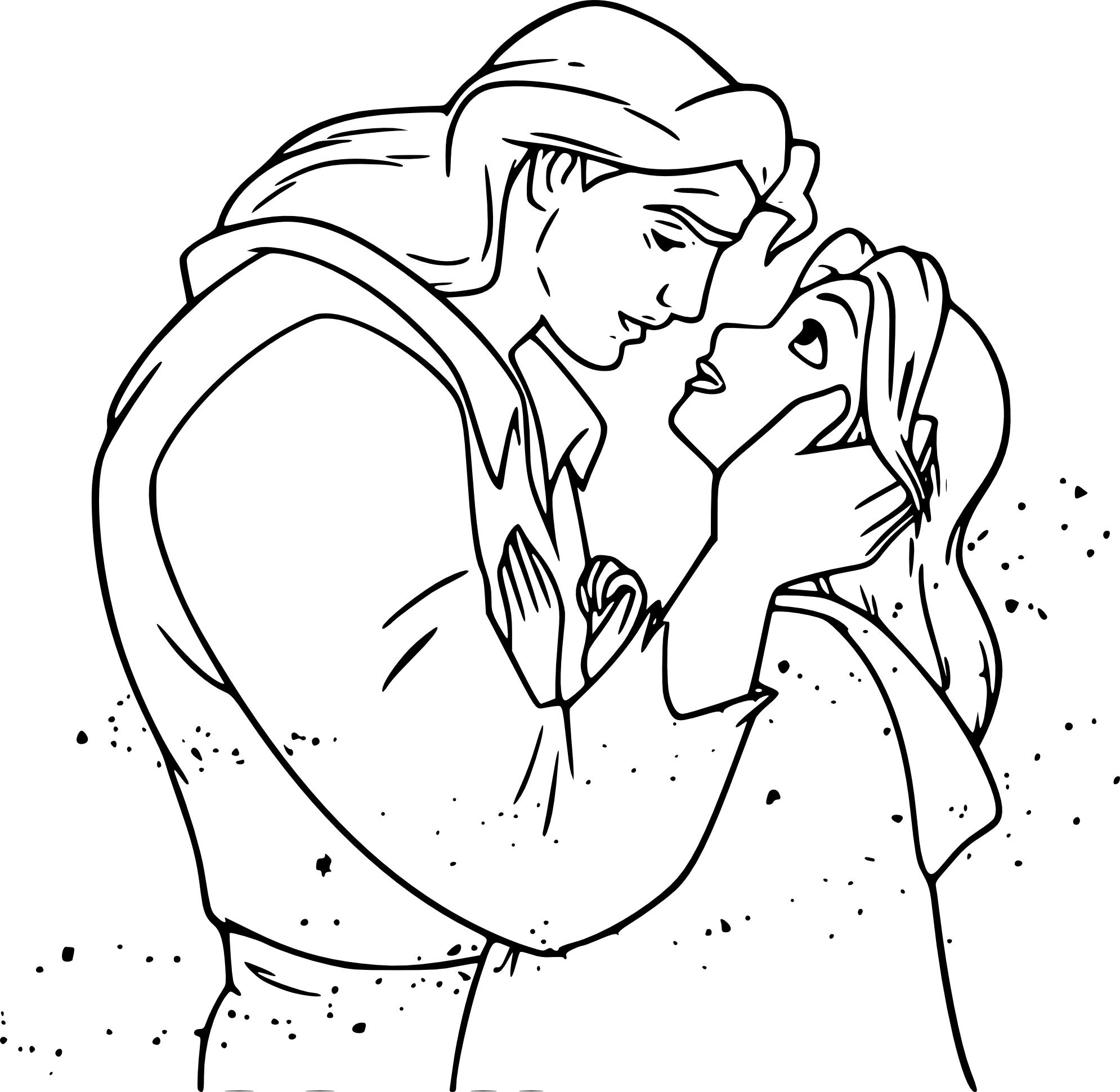 Coloriage Prince et Belle