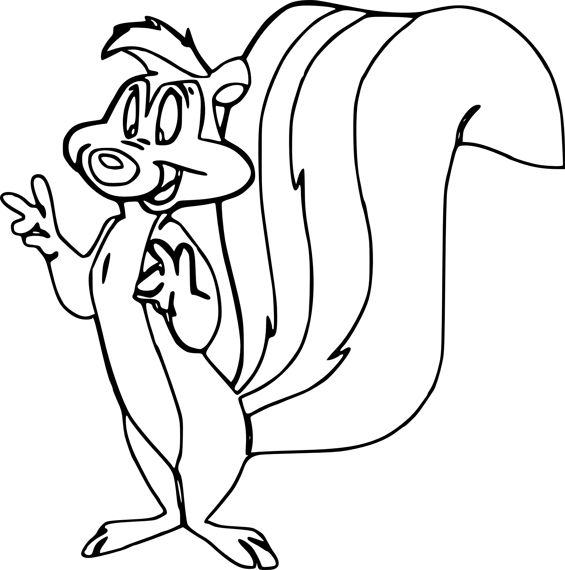 Coloriage Putois Looney Toons