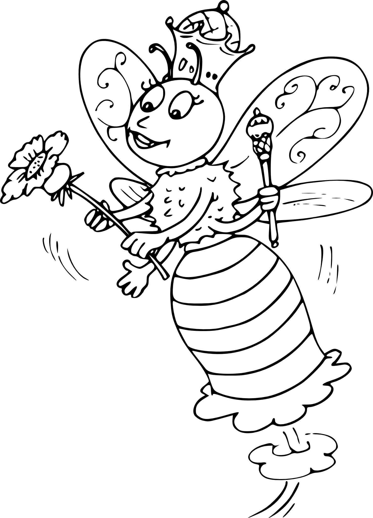 Coloriage reine des abeilles