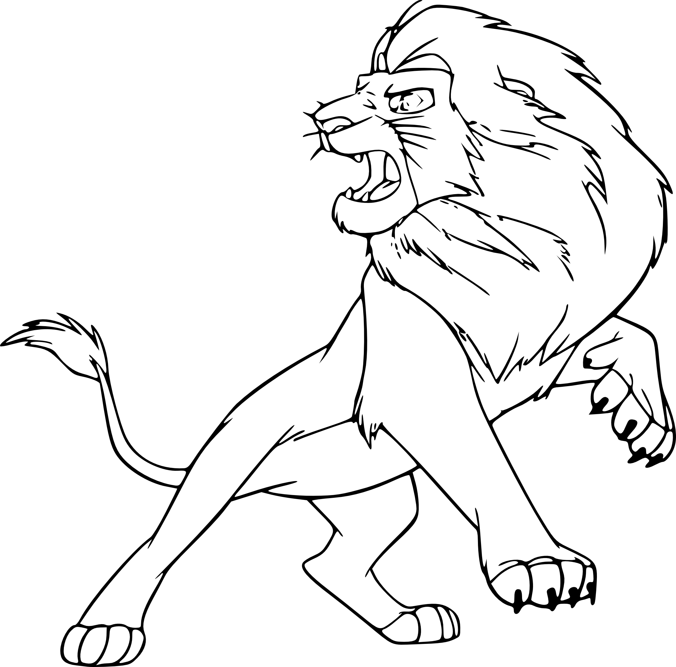 Coloriage Roi Lion 3