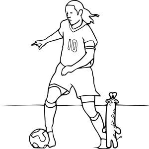 Coloriage Ronaldinho