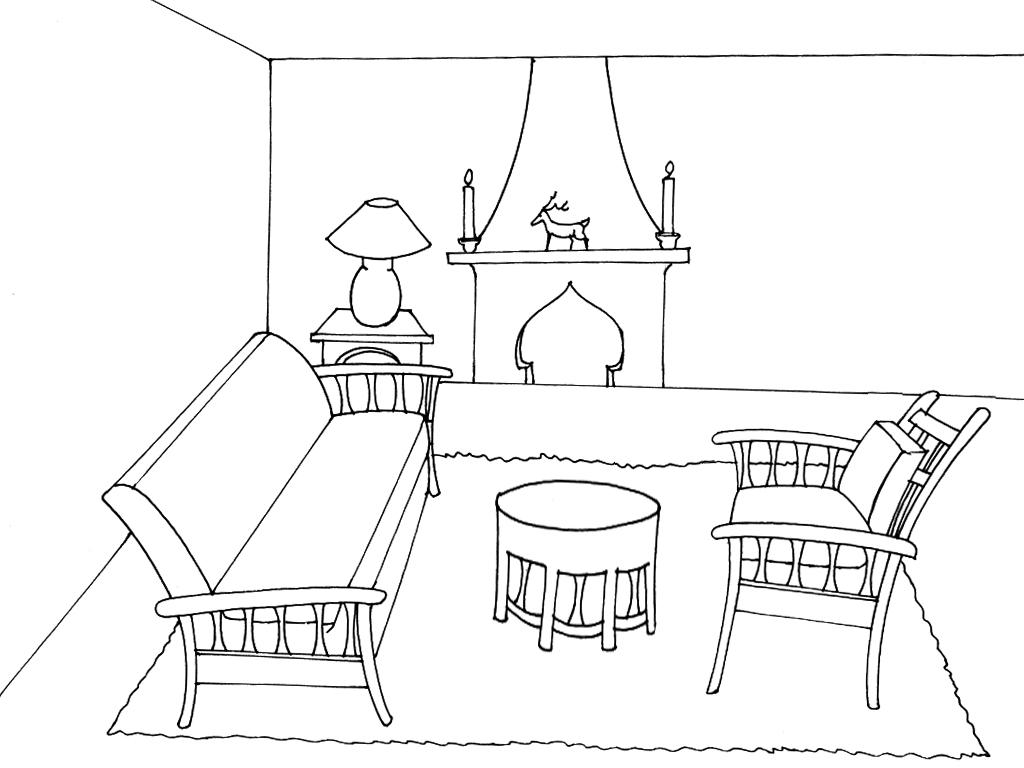 coloriage salon imprimer. Black Bedroom Furniture Sets. Home Design Ideas
