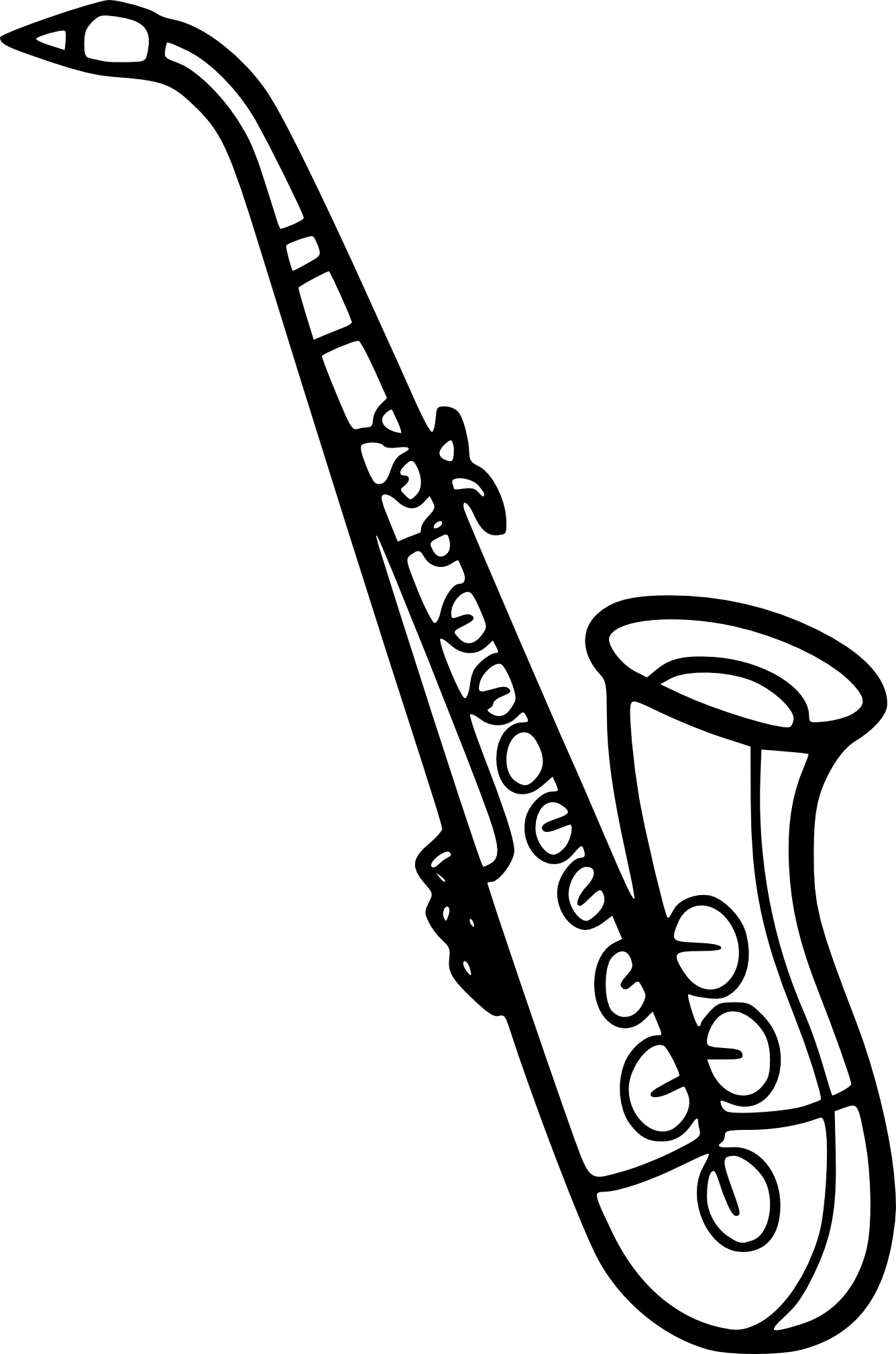 Coloriage saxophone imprimer - Dessin de flute ...