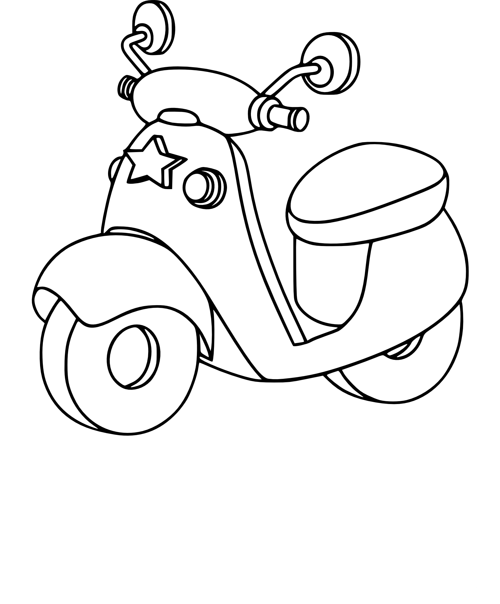Coloriage Scooter 224 Imprimer