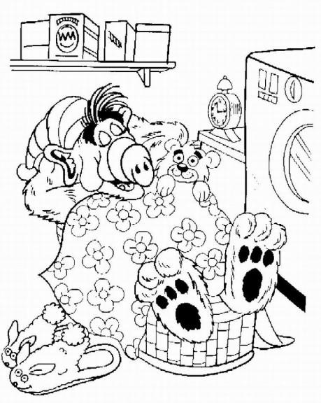 Coloriage serie Alf