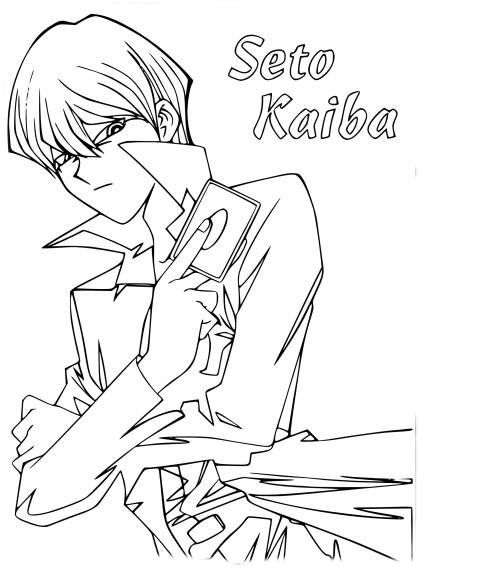 Coloriage Seto Kaiba