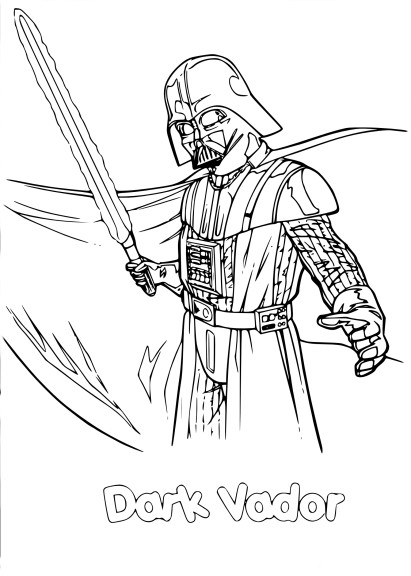 Coloriage Star Wars Dark Vador