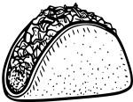 Coloriage tacos