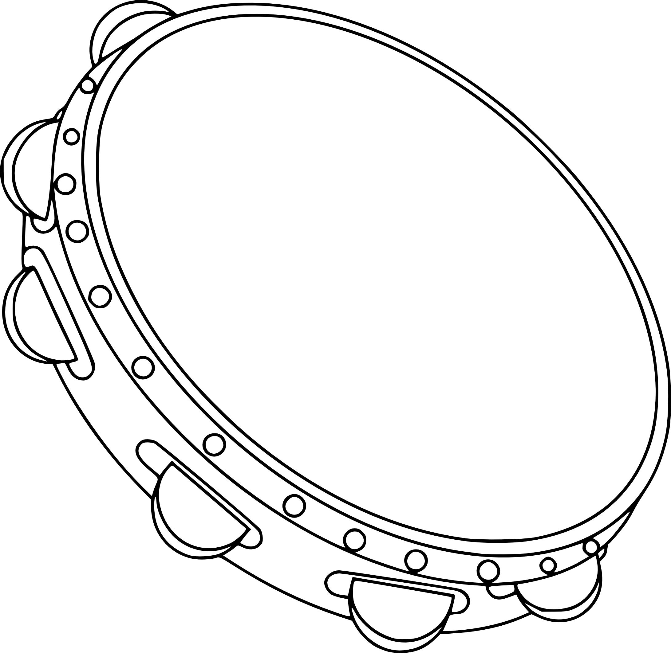 Coloriage tambourin imprimer - Image instrument de musique a colorier ...