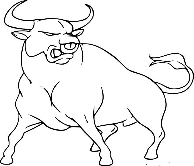 coloriage taureau  u00e0 imprimer