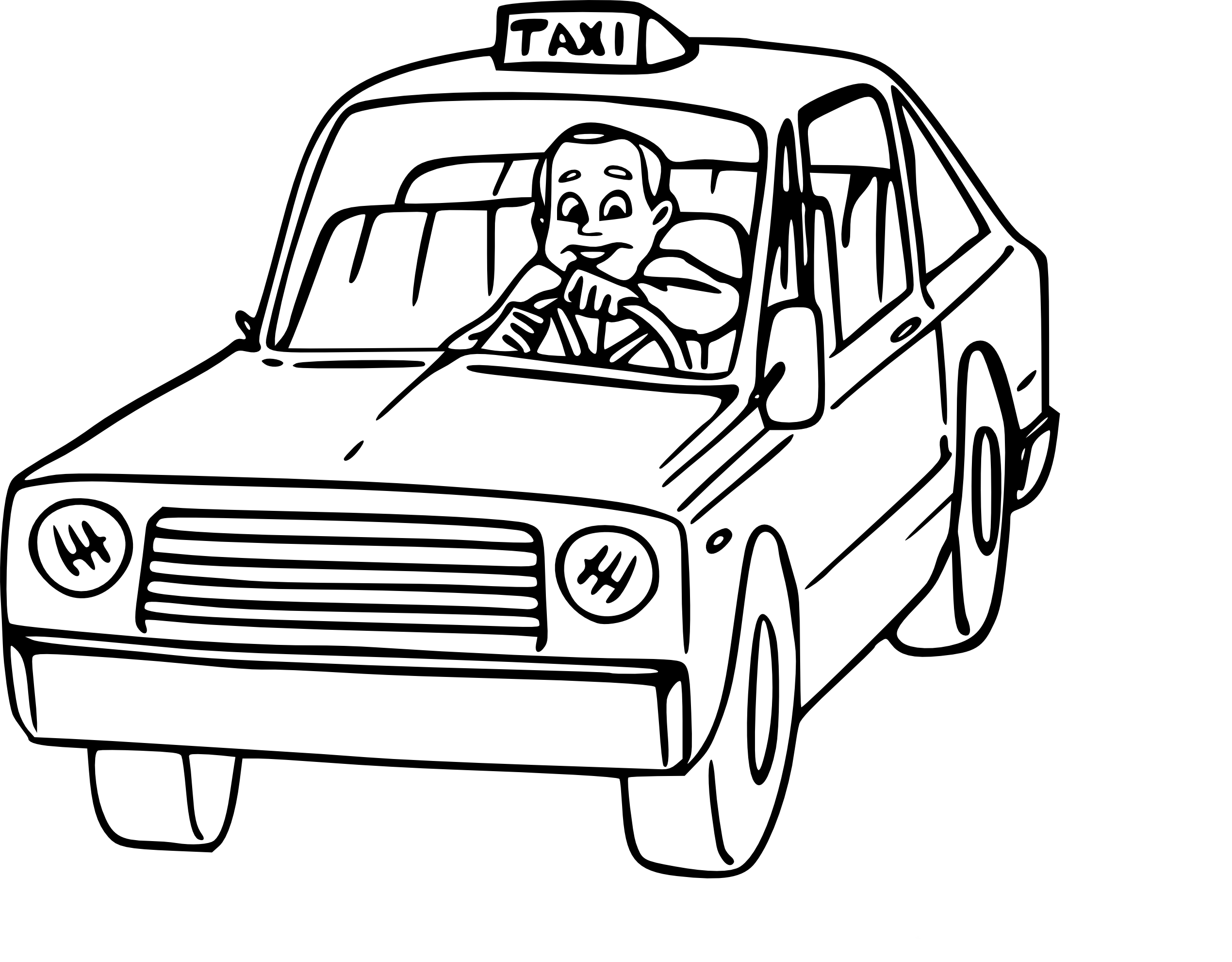 Coloriage Taxi à imprimer
