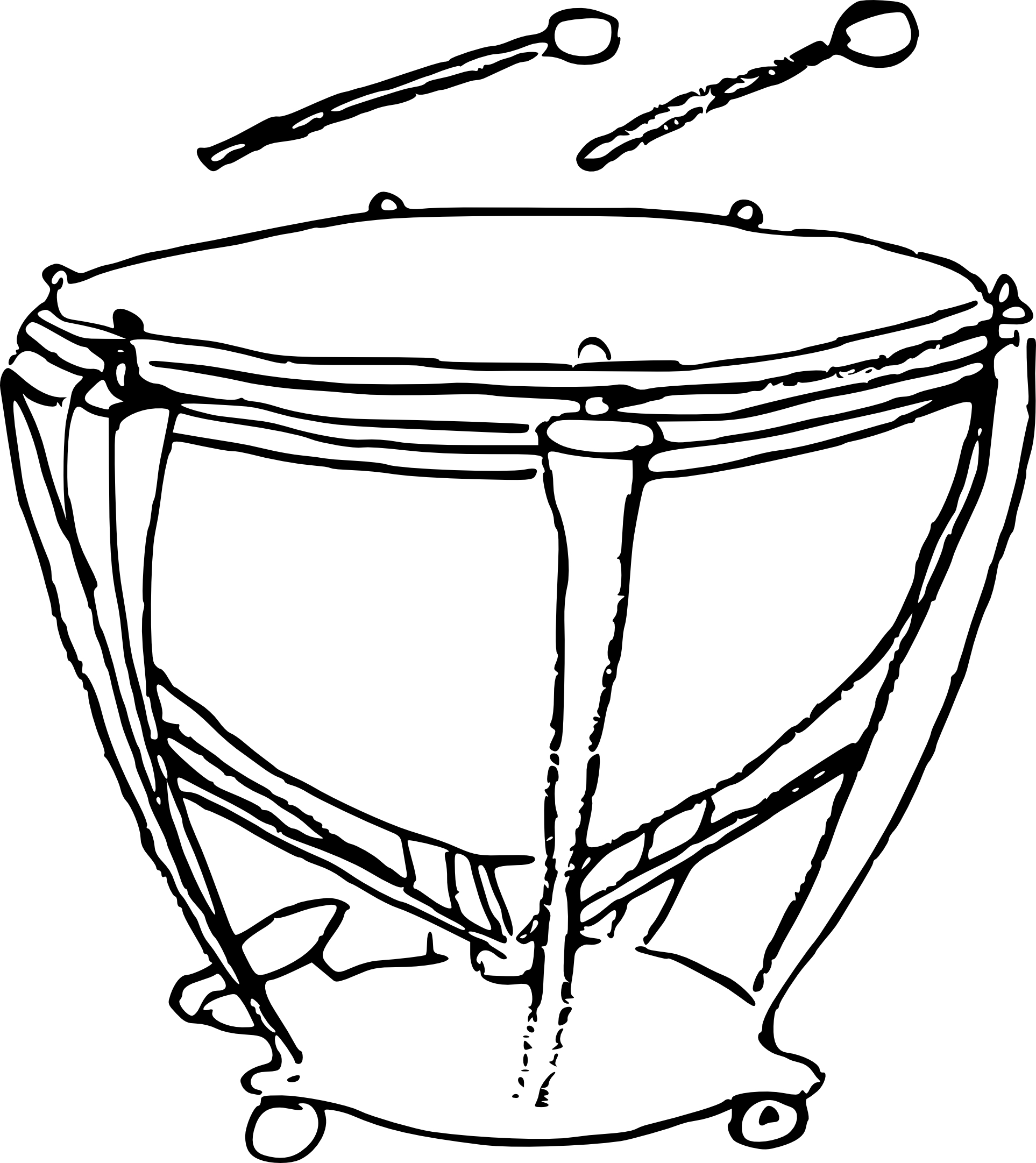 Coloriage timbale