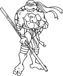 Coloriage Tortue Ninja Donatello