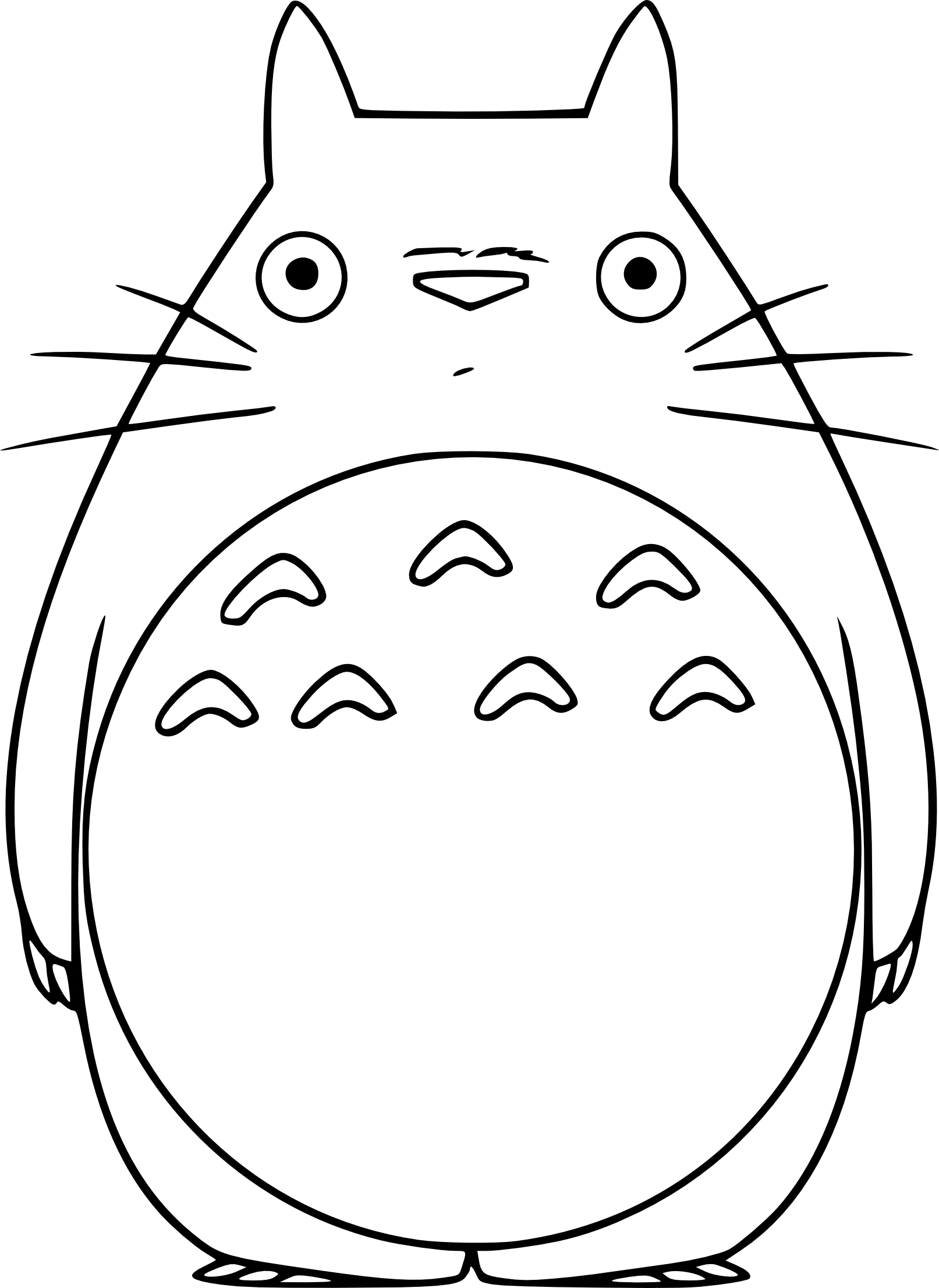 Coloriage Totoro