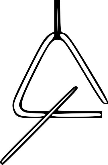 coloriage triangle de musique 224 imprimer