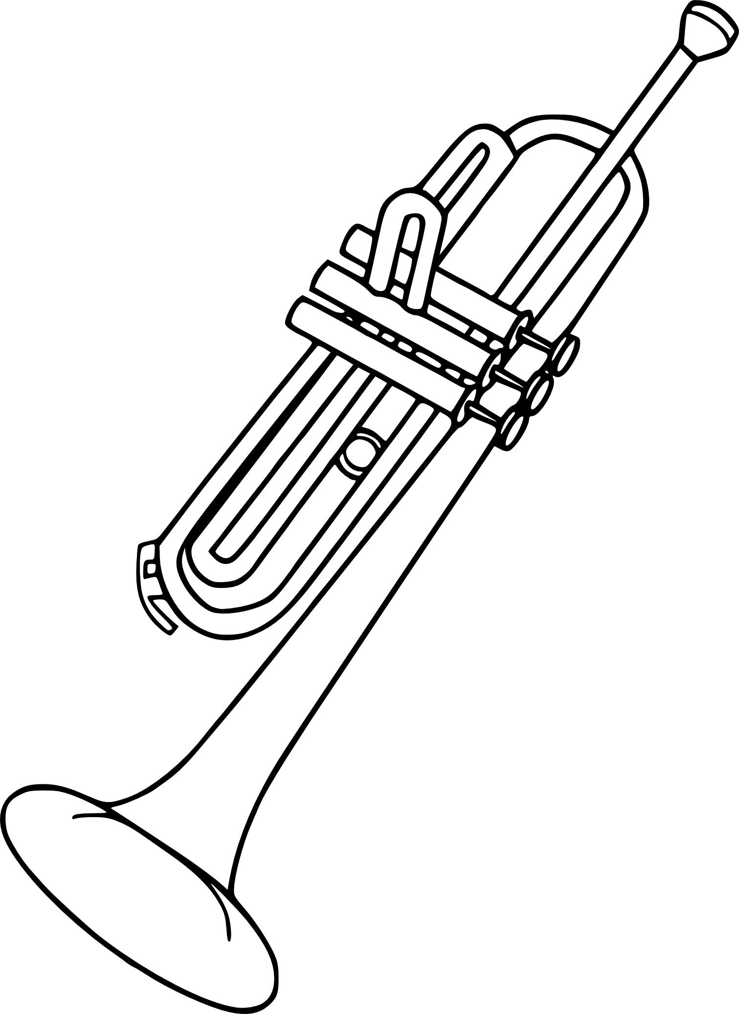 Coloriage trompette imprimer - Dessin de flute ...