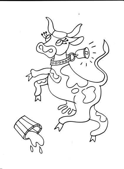 Coloriage vache folle